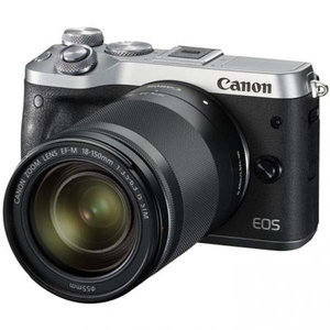 Camera foto mirrorless CANON EOS M6, argintiu + Obiectiv EF-M 18-150mm, 24.2MP, FullHD, NFC, Wi-Fi, Bluetooth