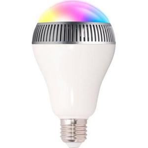 Bec LED Smart cu boxa portabila WELL SPKR-BT-TECHSAVVY-WL, 6W, RGB