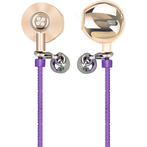 Casti PROMATE Retro-2, tip bratara, Cu Fir, In-Ear, Microfon, mov