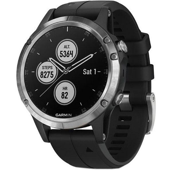 Smartwatch GARMIN Fenix 5 Plus, Android/iOS, silicon, Silver/Black
