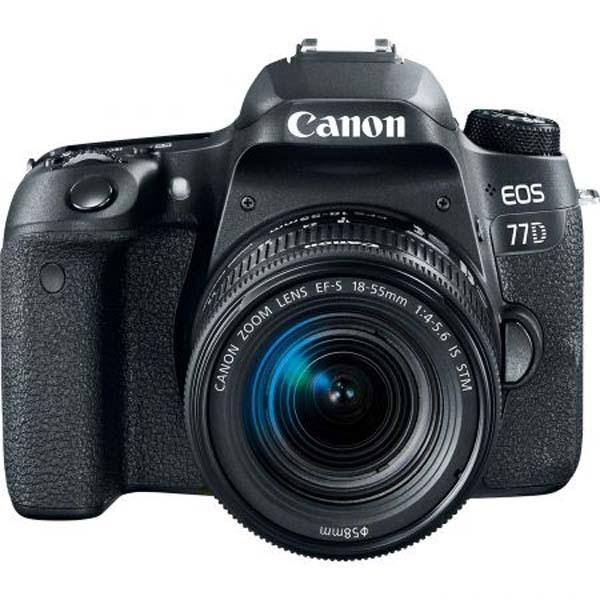 Aparat foto DSLR CANON EOS 77D, 24.2 MP, Wi-Fi, negru + Obiectiv EF-S 18-55mm f/3.5-5.6 IS STM