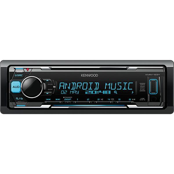 Player auto KENWOOD KMM-123Y, 4 x 50W, USB, FM