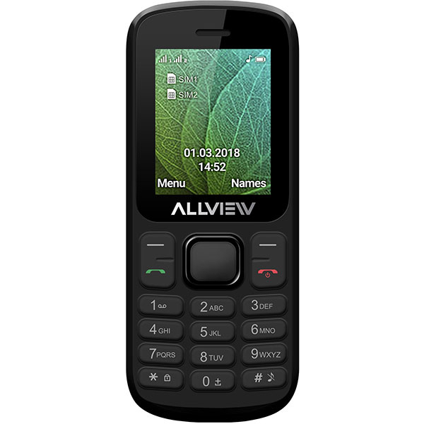Telefon ALLVIEW L5 Duo, 4MB RAM, 2G, Dual SIM, Black