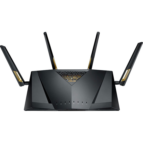 Router Wireless ASUS Gigabit RT-AX88U, Dual-Band 1148 + 4804 Mbps, USB 3.0 x 2, negru