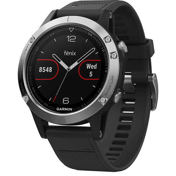 Smartwatch GARMIN Fenix 5 Android/iOS, silicon, Silver/Black