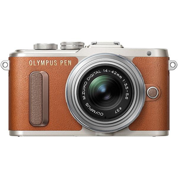 Aparat foto Mirrorless OLYMPUS E-PL8, 16.1 MP+ Obiectiv 14-42MM, Maro