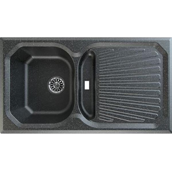 Chiuveta bucatarie GORENJE KVE 601, 1 1/2 cuve, picurator reversibil, compozit, negru