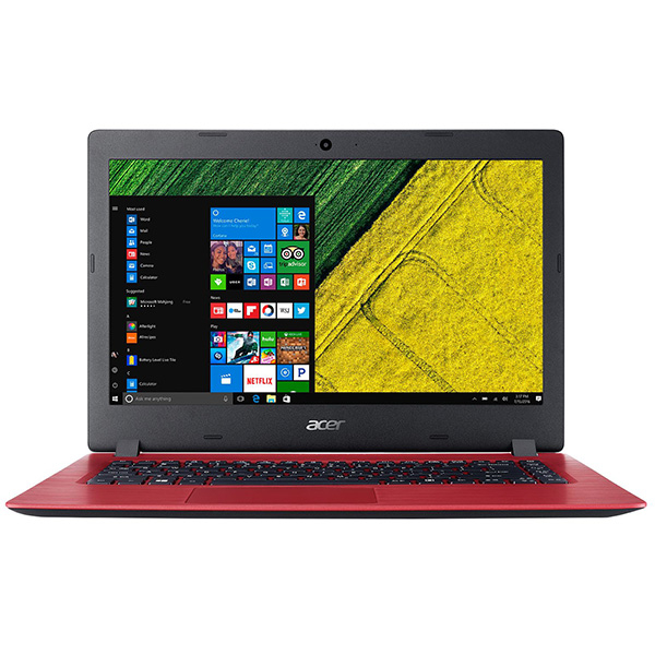 "Laptop ACER Aspire A114-31-P98R, Intel Pentium N4200 pana la 2.5GHz, 14"" HD, 4GB, eMMC 64GB, Intel HD Graphics 505, Windows 10 S, rosu"