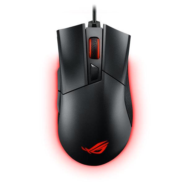 Mouse gaming ASUS Gladius II Aura, RGB, 12000 DPI, Black