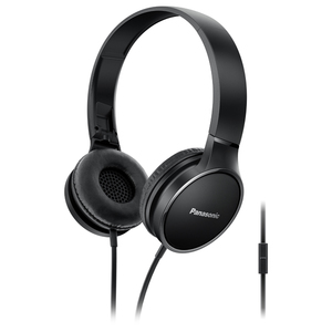Casti PANASONIC RP-HF300ME-K, Cu Fir, On-Ear, Microfon, negru