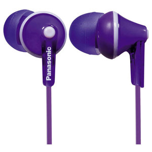 Casti PANASONIC RP-HJE125E-V, Cu Fir, In-Ear, violet