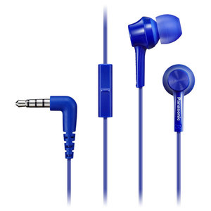 Casti PANASONIC RP-TCM105E-A, Cu Fir, In-Ear, Microfon, albastru