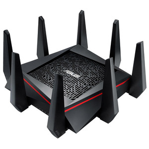 Router Wireless ASUS RT-AC5300, Tri-Band 1000 + 2167 + 2167 Mbps, USB 3.0, USB 2.0, negru