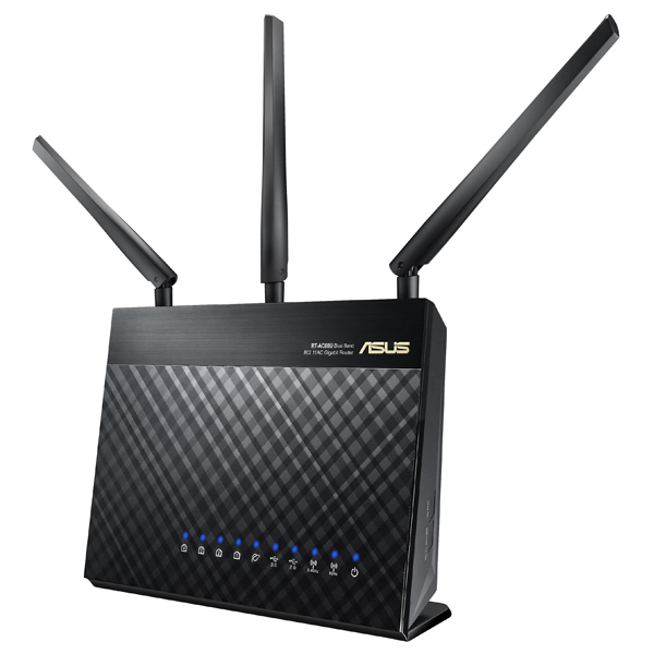 Router Wireless ASUS RT-AC68U Dual-Band, 600 + 1300Mbps, WAN, LAN, USB 2.0, USB 3.0, negru