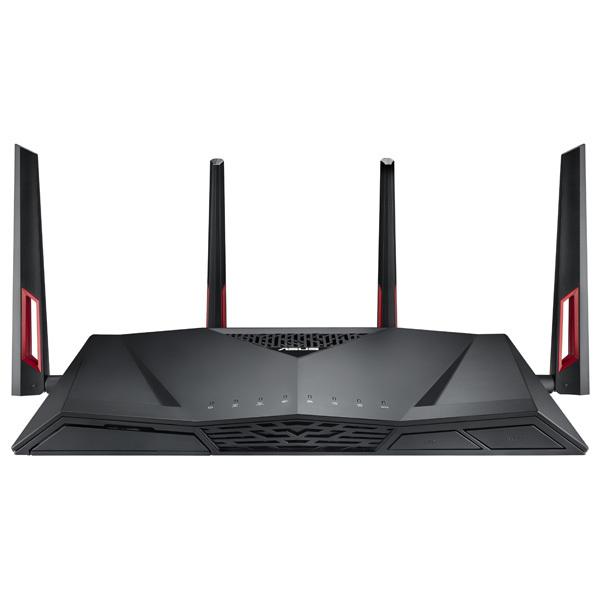 Router Wireless ASUS Gigabit RT-AC88U, Dual-Band 1000 + 2167 Mbps, USB 2.0, USB 3.0, negru
