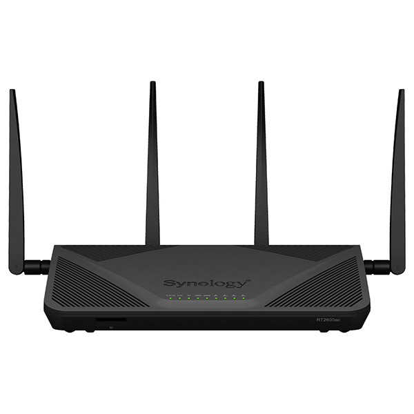 Router Wireless Synology RT2600ac, Dual-Band 800 + 1733 Mbps, Gigabit, USB 2.0, USB 3.0, negru