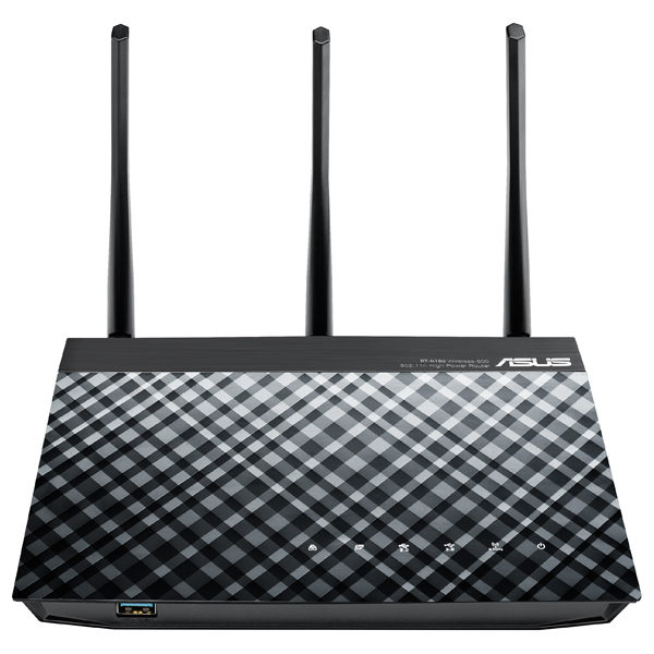 Router Wireless ASUS Gigabit RT-N18U N600, TurboQAM 600Mbps, USB 2.0, USB 3.0, negru