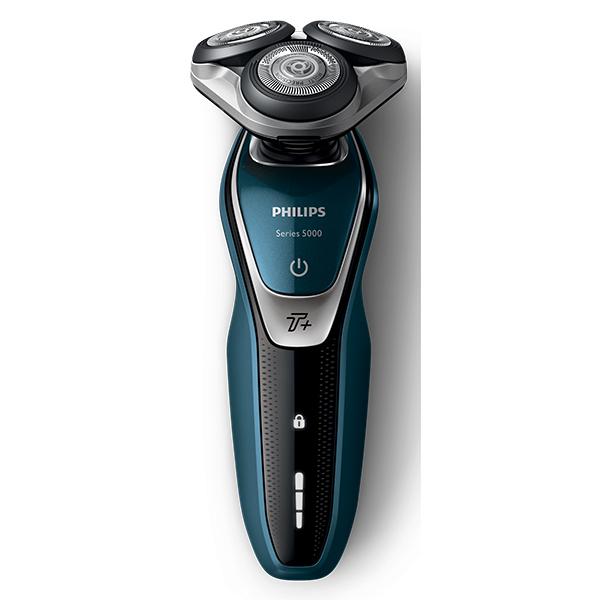 Aparat de barbierit PHILIPS Series 5000 S5672/41, 60 min autonomie, albastru