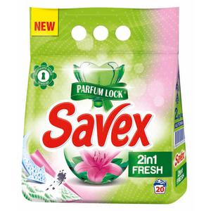 Detergent pudra SAVEX Powerzyme 2in1 Fresh, 2kg