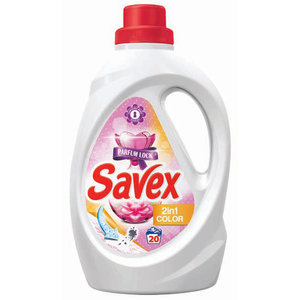 Detergent lichid SAVEX Powerzyme 2in1 Color, 1.3l