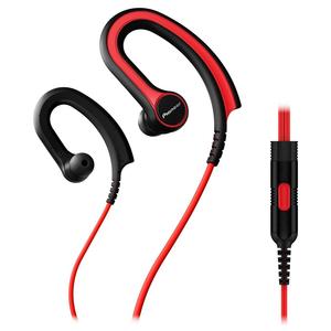 Casti PIONEER SE-E711T-R, microfon, in ear, cu fir, rosu