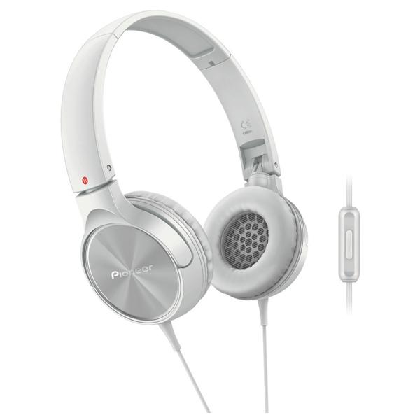 Casti PIONEER SE-MJ522T-W, Cu Fir, On-Ear, alb