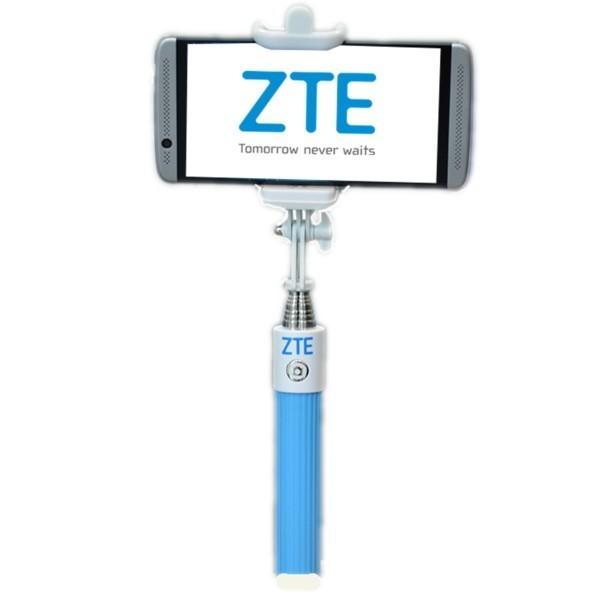 Selfie stick ZTE, cu fir, blue