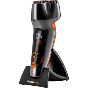 Trimmer BABYLISS Beard Designer SH510E, 40 min autonomie, negru-portocaliu