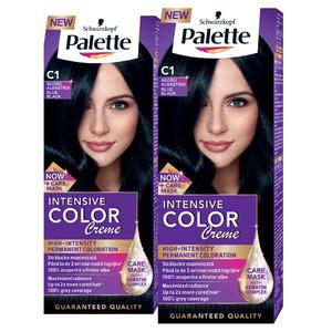 Pache promo, Vopsea de par PALETTE Intensive Color Creme, C1-Negru Albastru, 2 x 110ml
