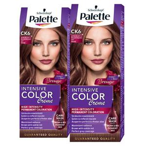 Pachet promo, Vopsea de par PALETTE Intensive Color Creme, CK6 Saten Delicat, 2 x 110ml