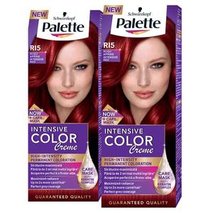 Pachet promo, Vopsea de par PALETTE Intensive Color Creme, RI5 Rosu Aprins, 2 x 110ml