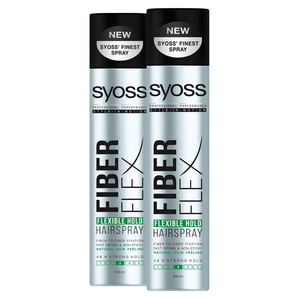 Pachet promo SYOSS FiberFlex Hold: Spray fixativ, 2 x 300ml