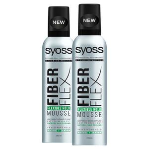 Pachet promo SYOSS FiberFlex Hold: Spuma de par, 2 x 250ml