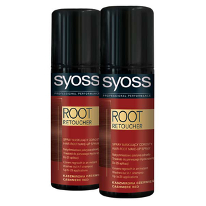 Pachet promo, Vopsea de par SYOSS Root Retoucher, Cashmire Red, 2 x 120ml