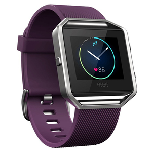 Smartwatch FITBIT Blaze Silver FB502SPML-EU, Android/iOS, silicon, Large, Plum