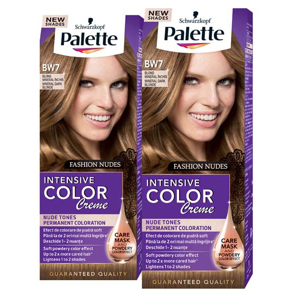 Pachet Promo Vopsea De Par Palette Intensive Color Creme Bw7 Blond