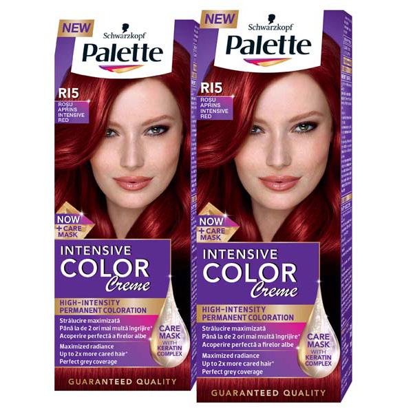 Pachet Promo Vopsea De Par Palette Intensive Color Creme Ri5 Rosu