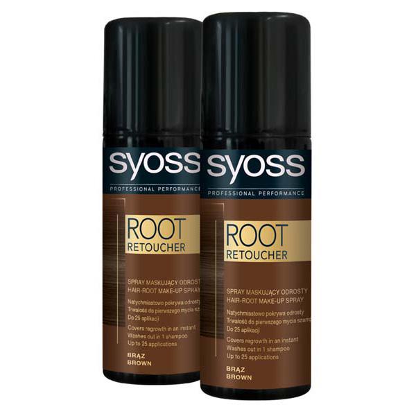Pachet promo, Vopsea de par SYOSS Root Retoucher, Brown, 2 x 120ml