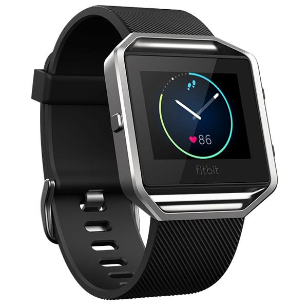 Smartwatch FITBIT Blaze Silver, bratara Large, Black