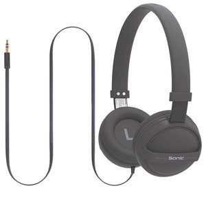 Casti PROMATE Sonic, Cu Fir, On-Ear, gri