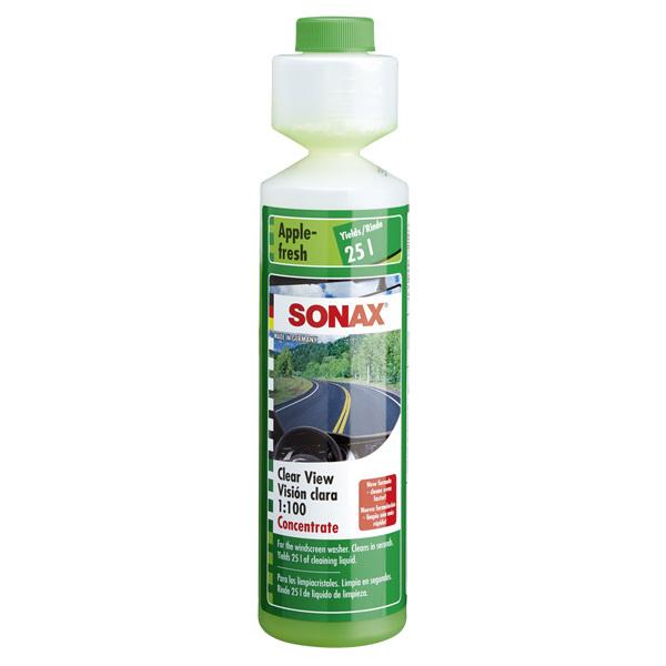 Solutie concentrat 1:100 spalare parbriz SONAX SO372141, mere, 0,25l