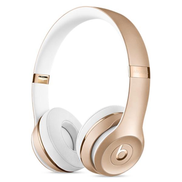 Casti BEATS Solo3, Bluetooth, On-Ear, Microfon, auriu