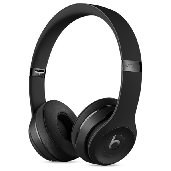 Casti on-ear cu microfon Bluetooth BEATS Solo3 Wireless, negru