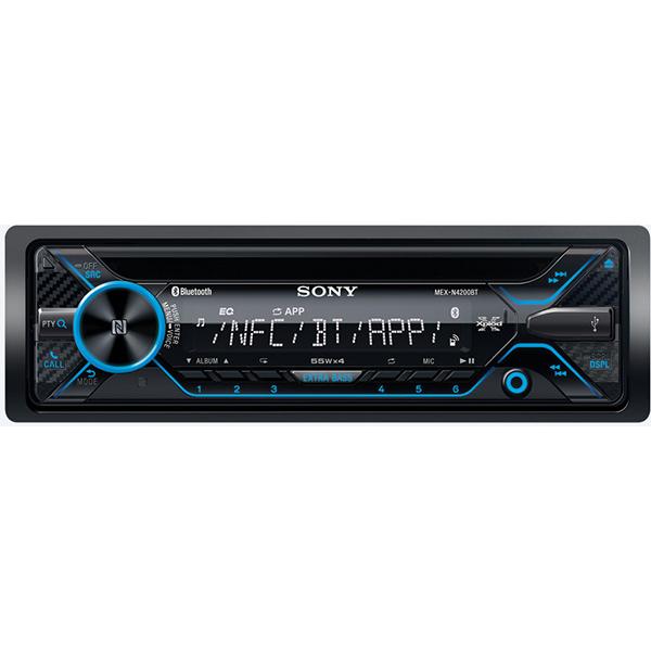 Radio CD auto SONY MEX-N4200BT, 4X55W, Bluetooth, NFC, USB