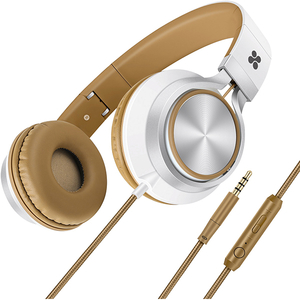 Casti PROMATE Spectrum, Cu Fir, Over-Ear, Microfon, maro