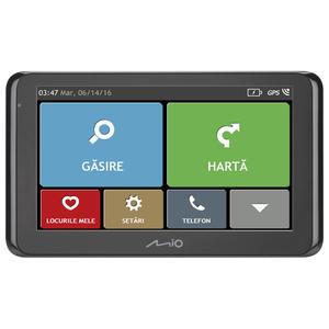 Sistem de navigatie GPS MIO Spirit 8670 LM, 6.2'', Bluetooth, SmartRoutes, LearnMe Pro, Asistenta la parcare