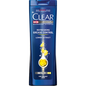 Sampon Clear Men Refreshing Grease, cu extract de Lamaie, 250ml