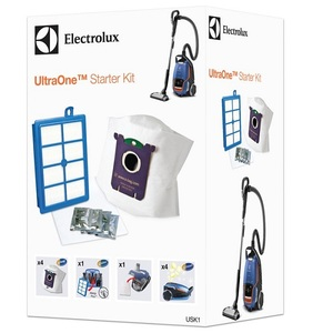 Set 4 saci s-bag Ultra Long Performance, un s-filter Allergy Plus ELECTROLUX, un filtru motor, 4 plicuri odorizante s-FRESH Lemon
