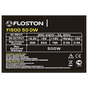 Sursa de alimentare FLOSTON FL500, 500W, 8cm fan, PFC activ