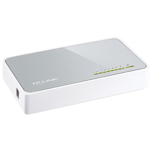 Switch TP-LINK SF1008D, 8 porturi, alb